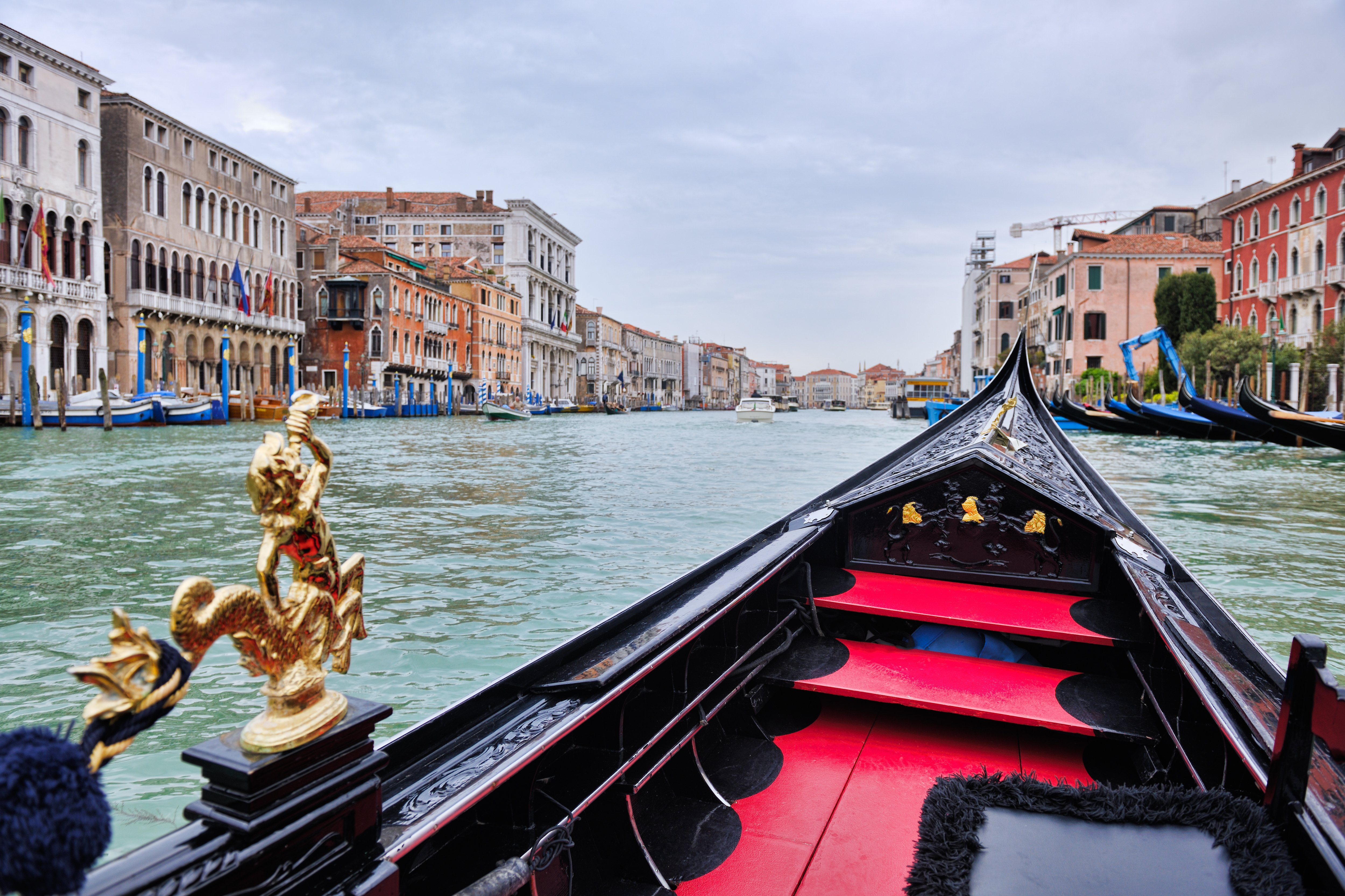 venice, beautiful romantic italian city on sea with great canal and go